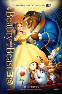 Poster for Beauty and the Beast 3D (1991)