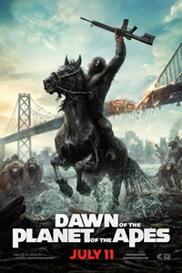 Dawn of the Planet of the Apes in 3D Poster