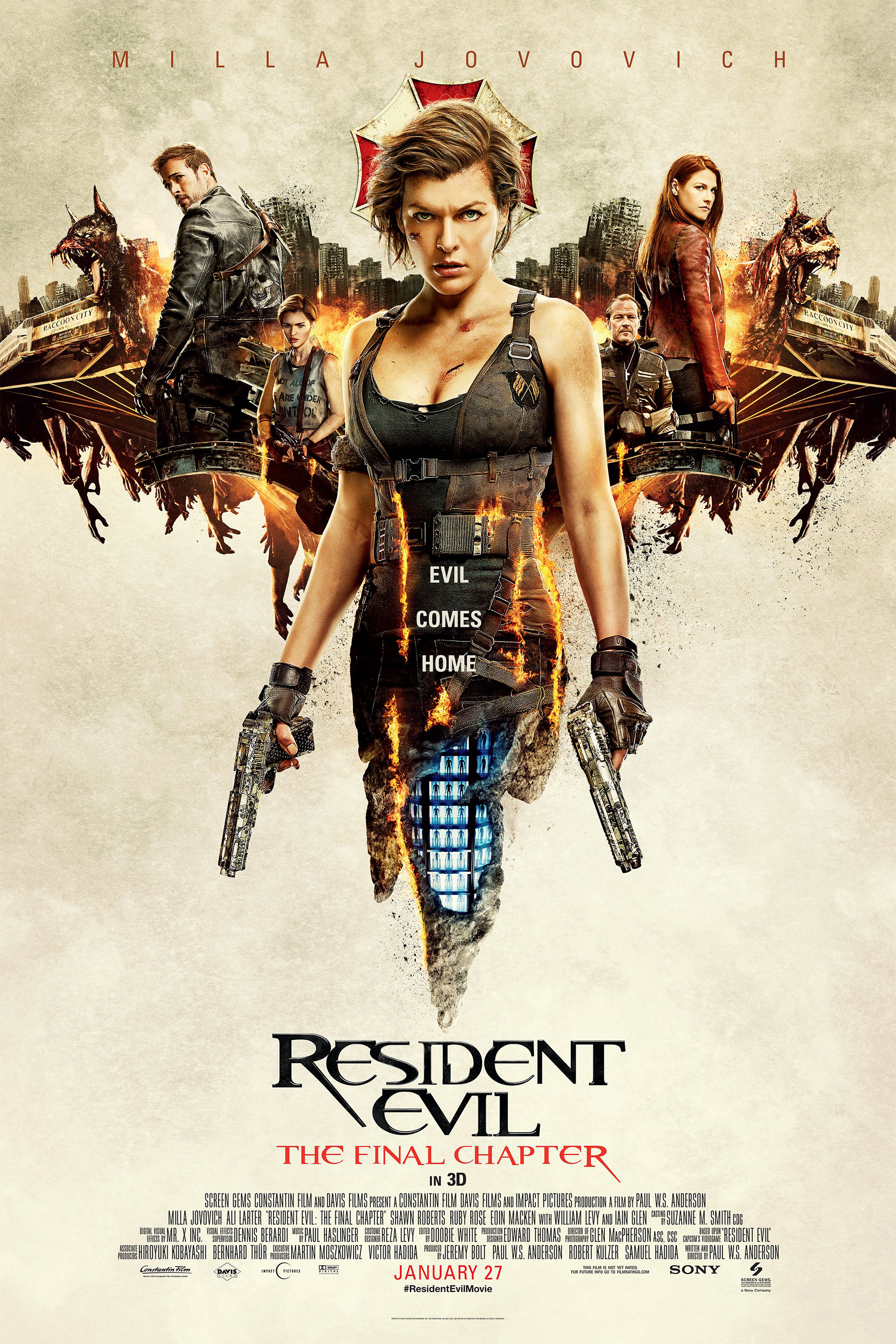 Poster for Resident Evil: The Final Chapter
