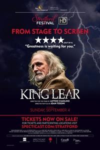 Stratford Festival: King Lear Poster