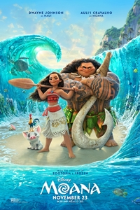 Moana in Disney Digital 3D Poster