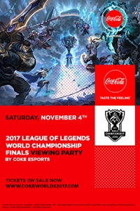 Poster of 2017 League of Legends World Finals Viewing Parties by Coke eSports