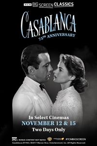 Poster of Casablanca 75th Anniversary (1942) presented by TCM