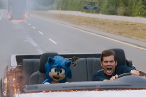 Still of Sonic The Hedgehog