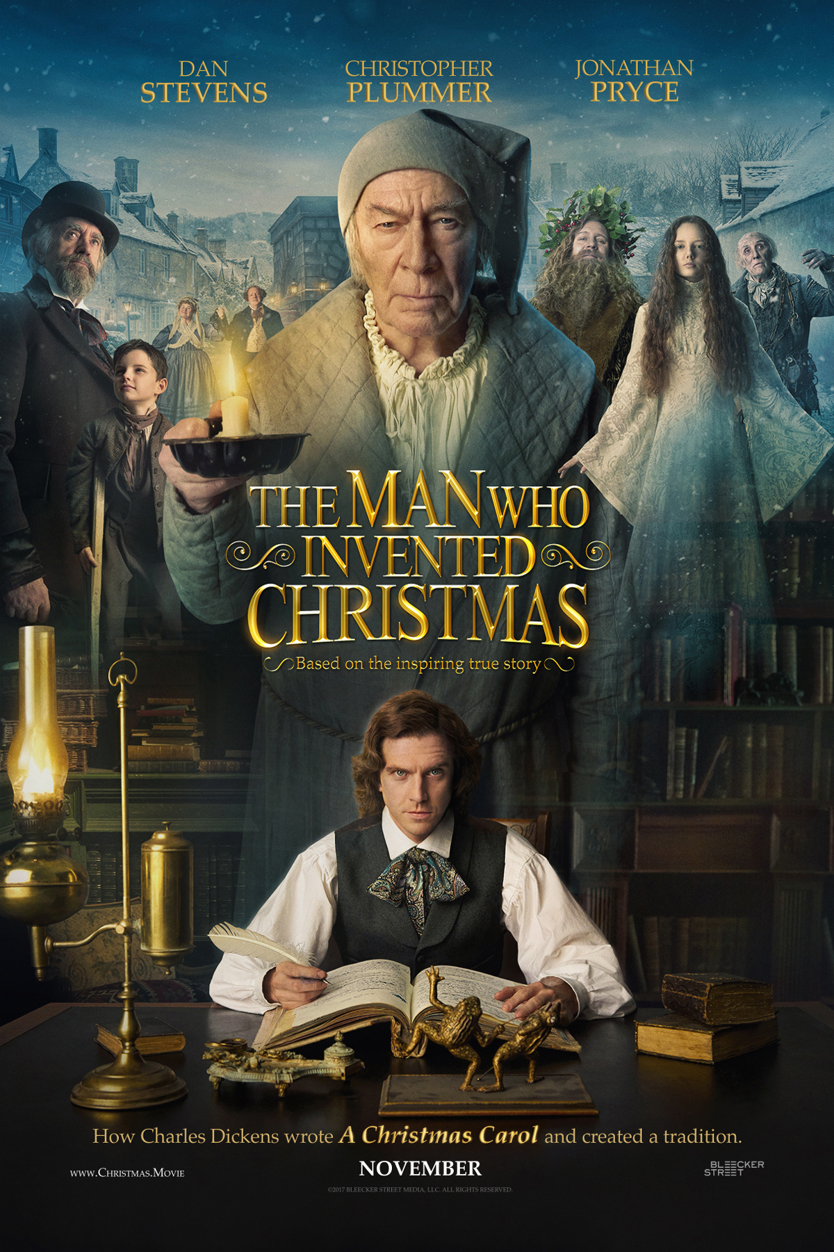 Poster for The Man Who Invented Christmas