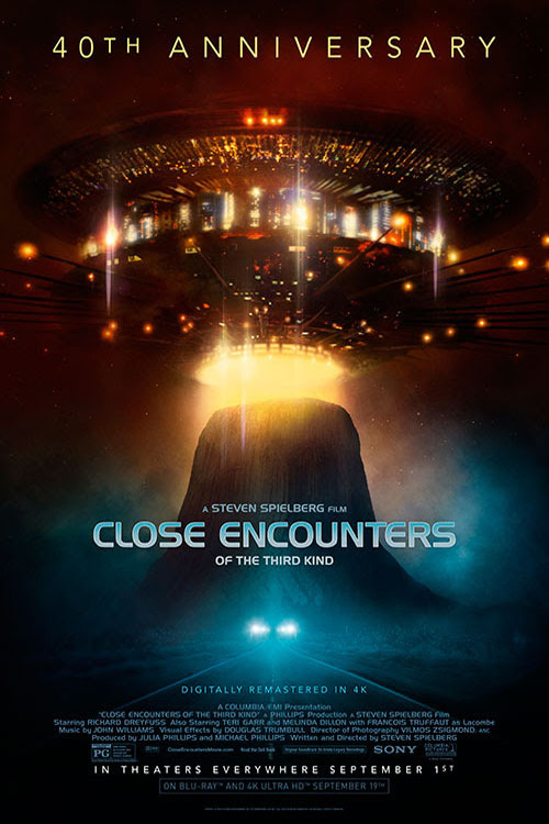Poster for Close Encounters of the Third Kind 40th Anniversary Release