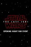 Opening Night Fan Event-Star Wars: The Last Jedi Poster