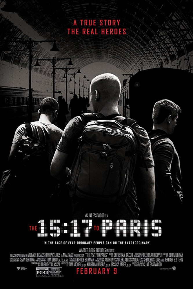 Poster for The 15:17 to Paris