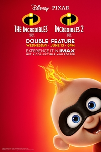 Poster for Incredibles Double Feature The IMAX 2D Experience