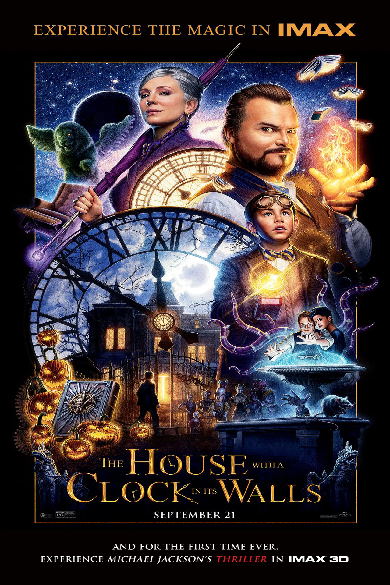 Poster for The House With a Clock In Its Walls (w/ Michael Jackson's Thriller): IMAX