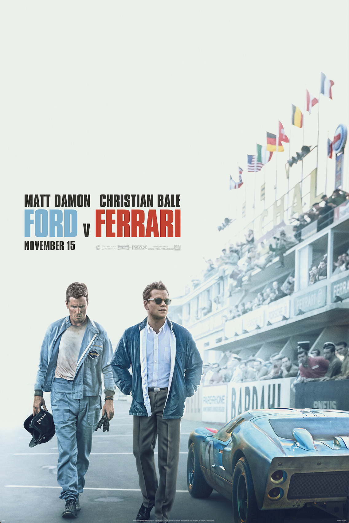 Poster for Ford v Ferrari
