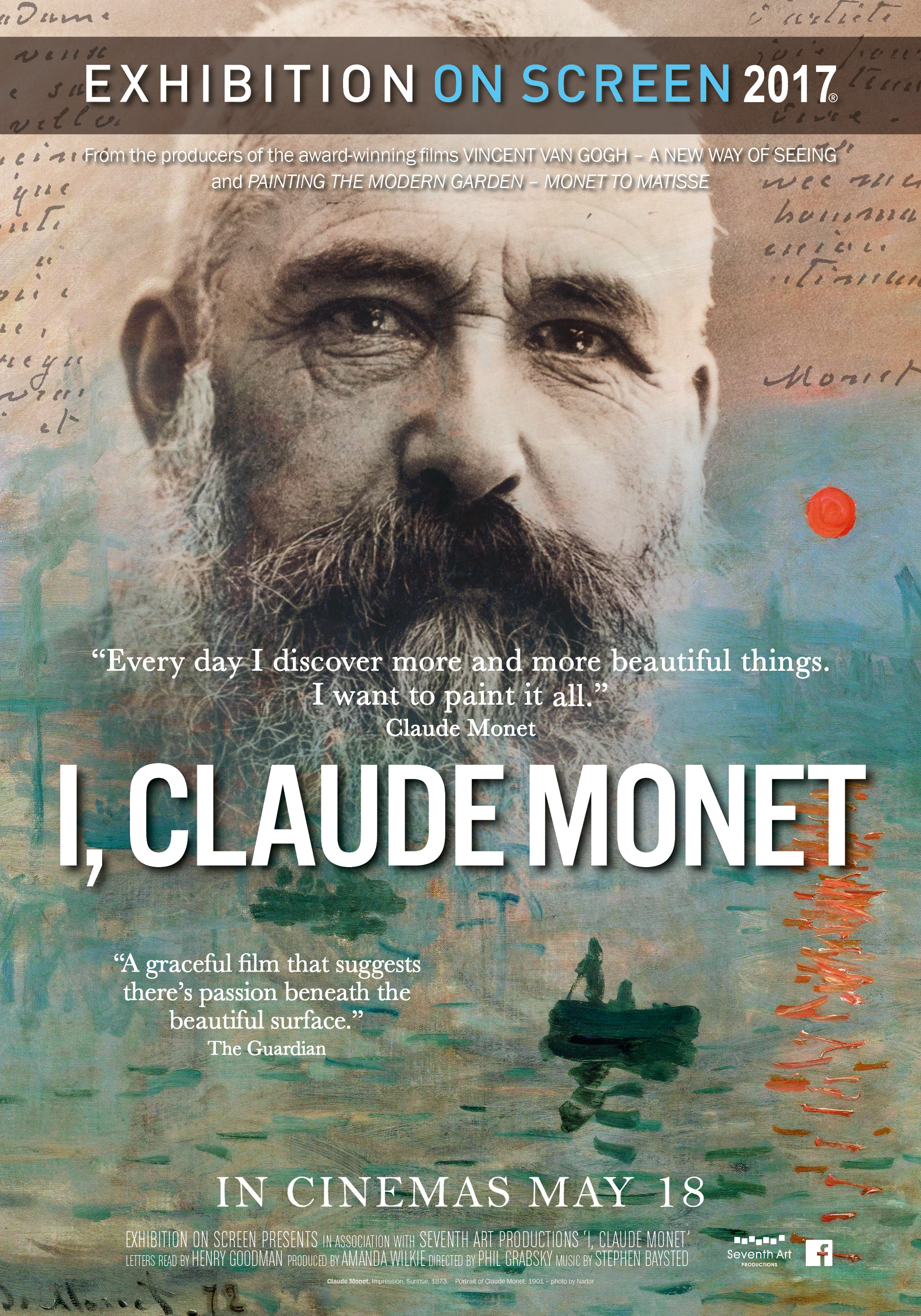 Poster of Exhibition on Screen: I, Claude Monet