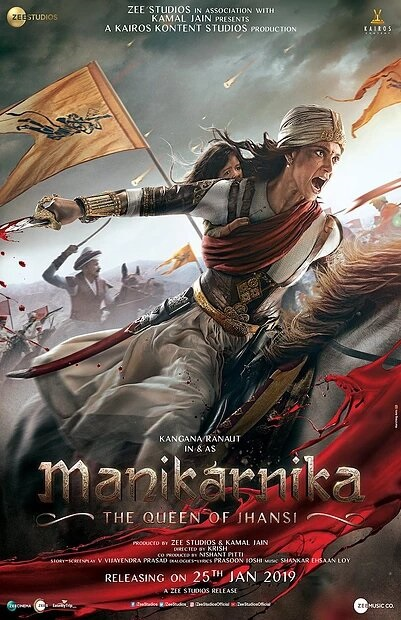 Poster of Manikarnika: The Queen of Jhansi