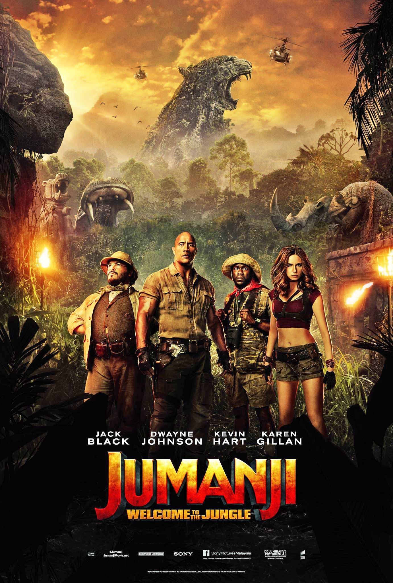 Poster of Jumanji: Welcome to the Jungle 3D