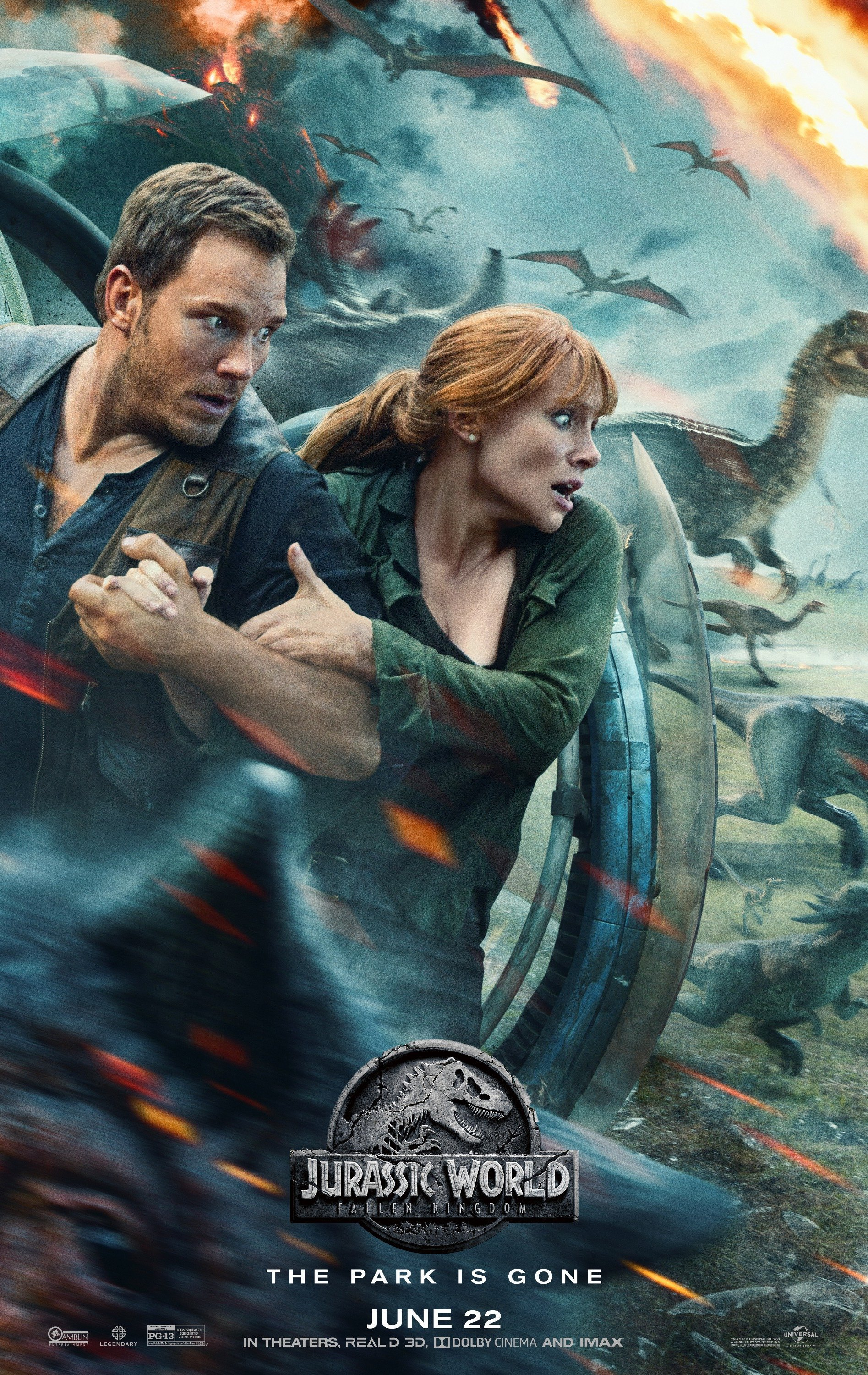 Poster of Jurassic World: Fallen Kingdom 3D