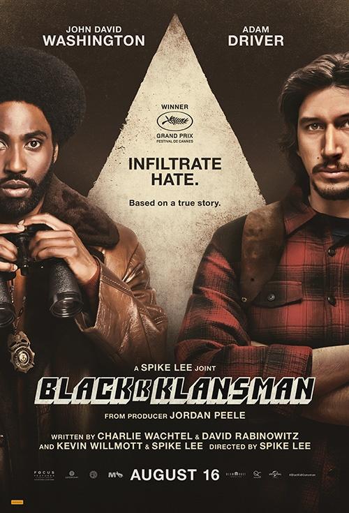 Poster of BlacKkKlansman