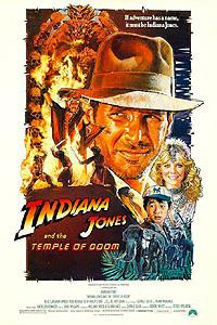 Poster for Indiana Jones and the Temple of Doom