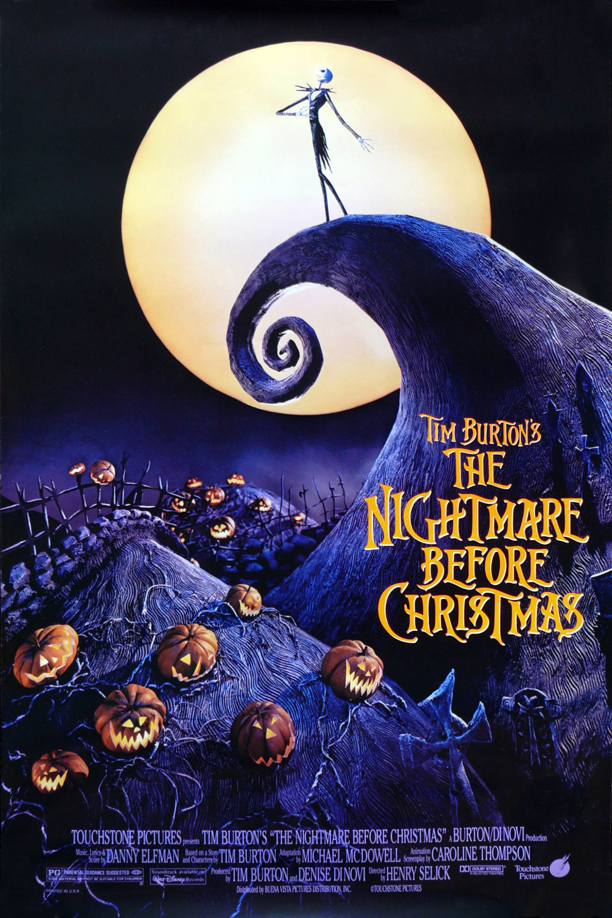 Poster of Tim Burton's The Nightmare Before Christmas