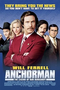 Poster for Anchorman: The Legend of Ron Burgundy