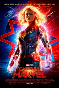 Captain Marvel in Disney Digital 3D Poster