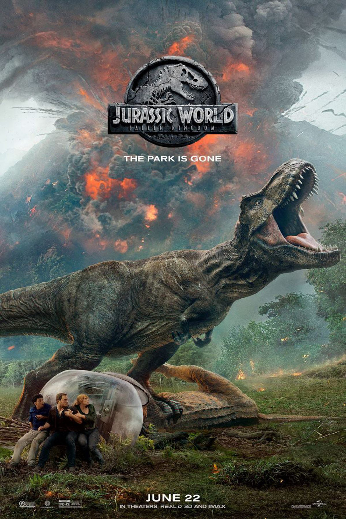 Poster for Jurassic World: Fallen Kingdom