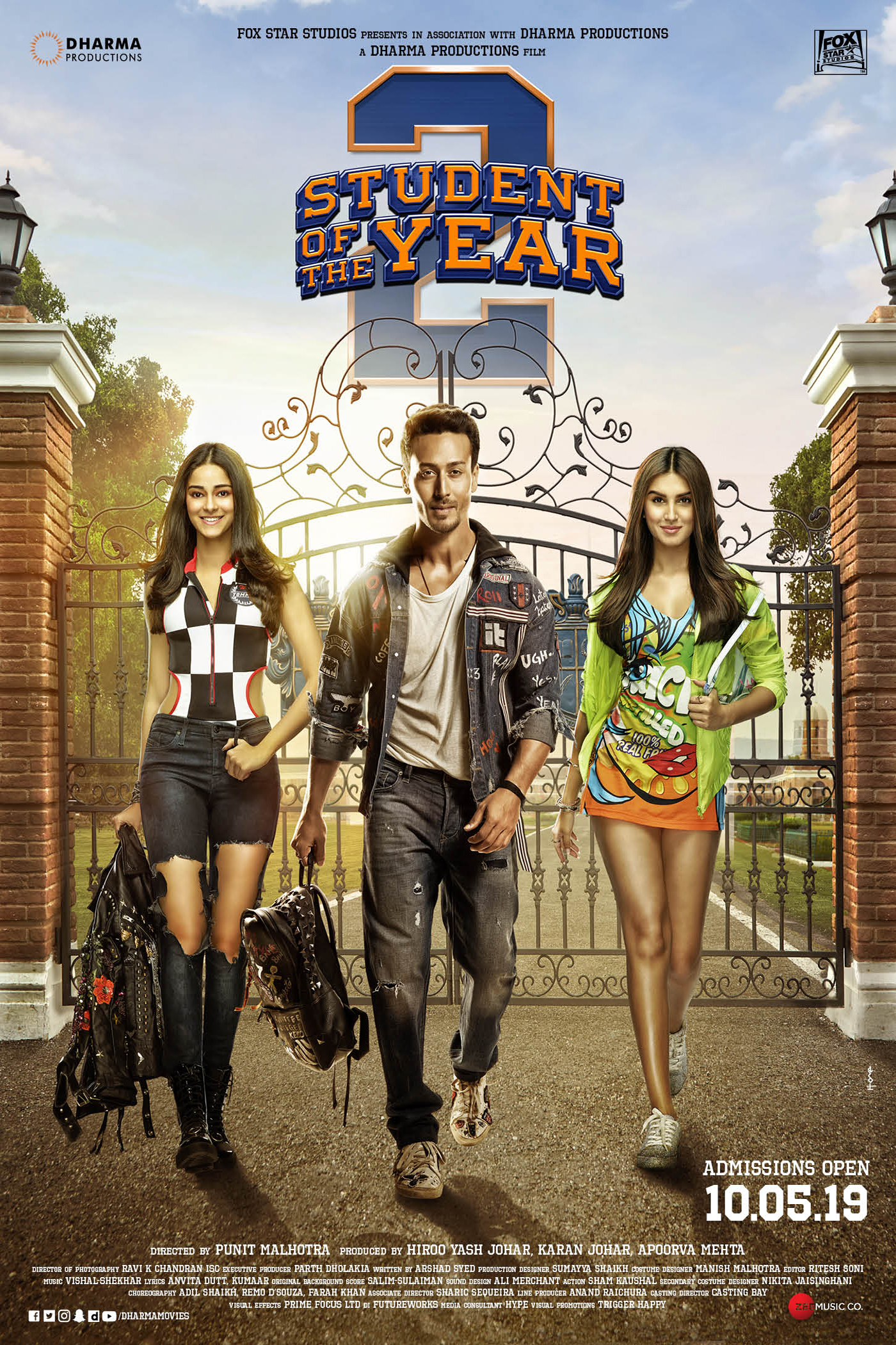 Student of the Year 2 (Hindi) Poster