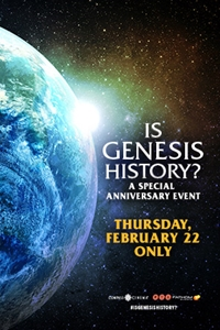 Is Genesis History? Anniversary Event Poster