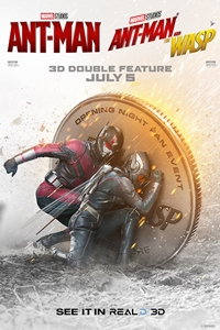 Poster for Ant-Man and the Wasp in RealD 3D Opening Night Double Feature
