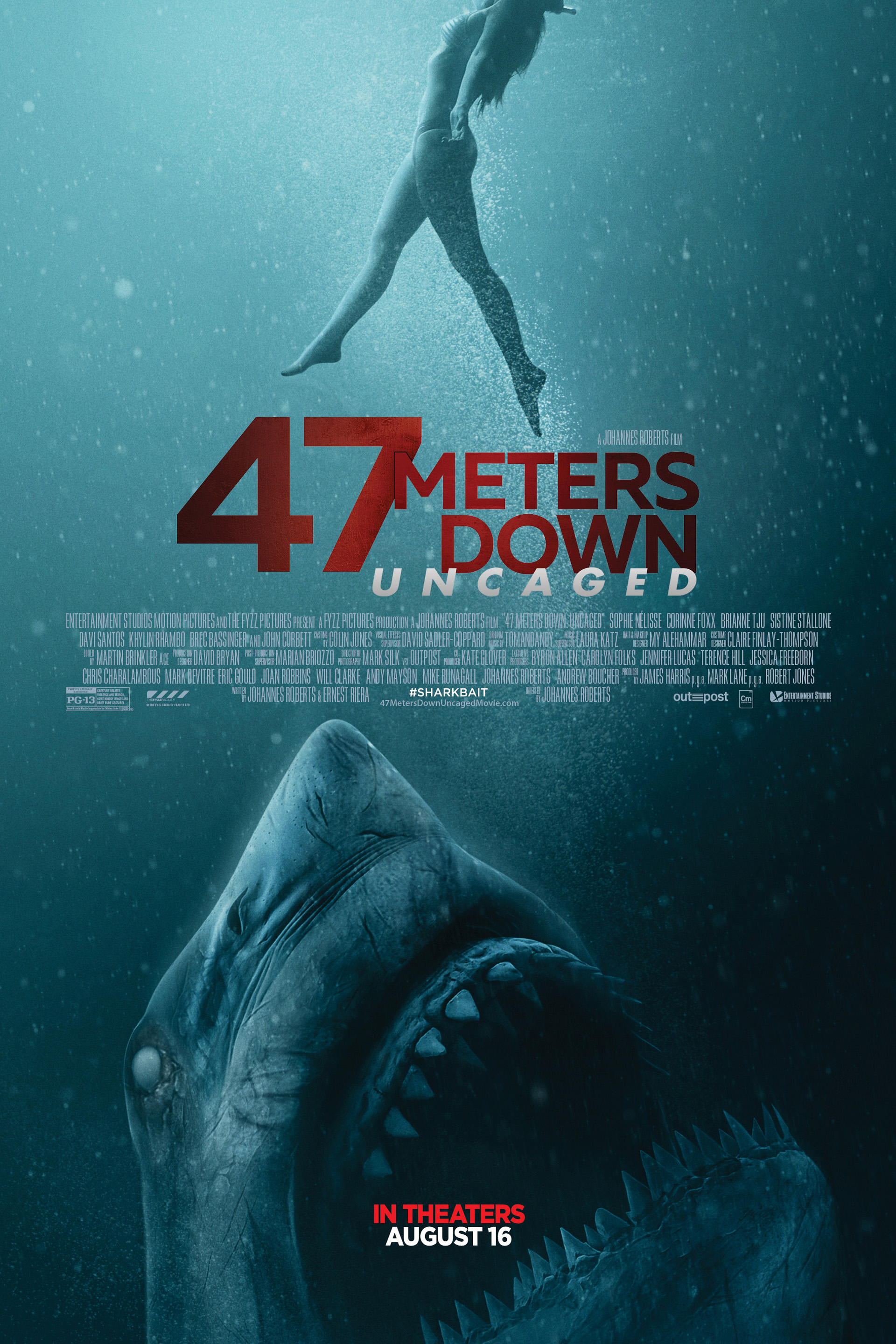 Poster of 47 Meters Down: Uncaged