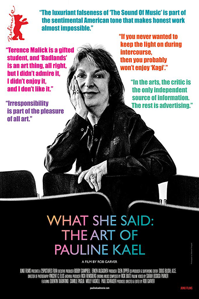 Poster for What She Said: The Art of Pauline Kael