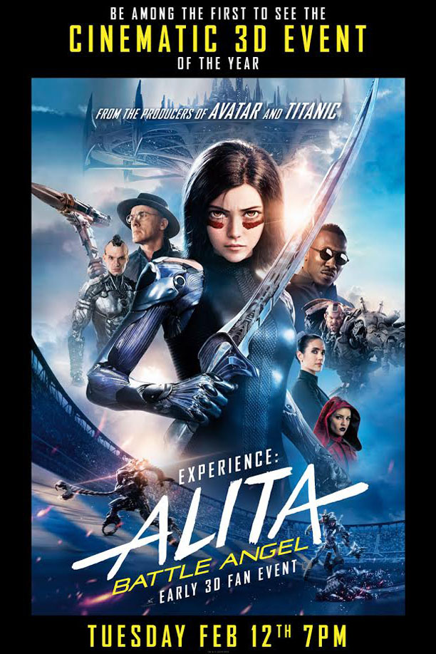 Experience: Alita Battle Angel Early 3D Fan Event Poster