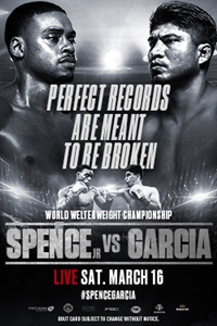 Poster of Errol Spence Jr. vs. Mikey Garcia