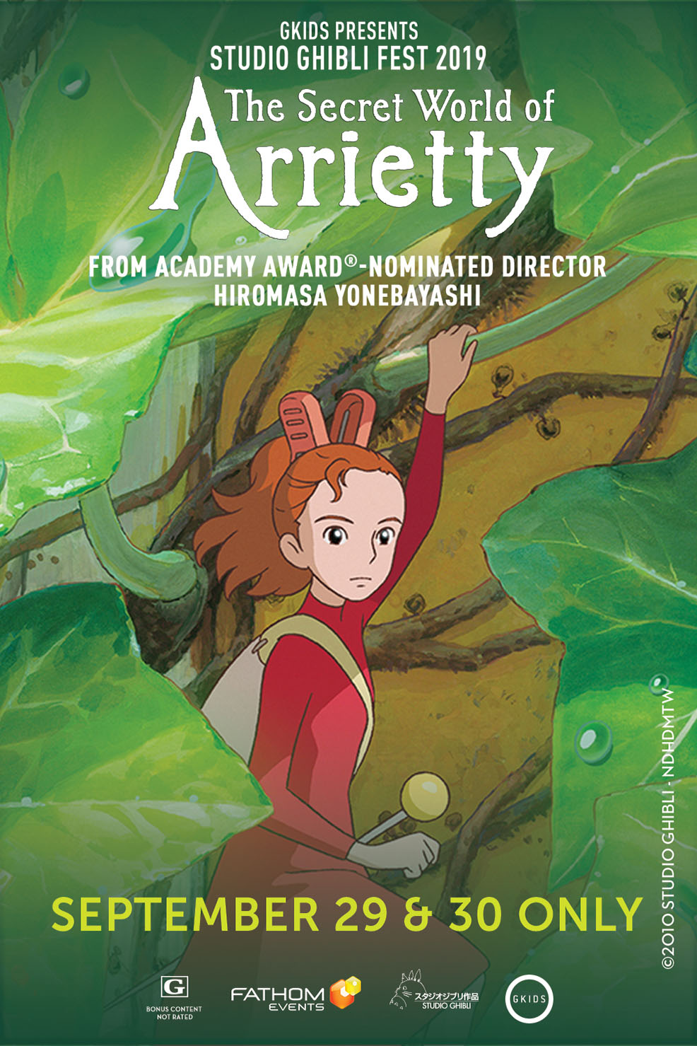 The Secret World of Arrietty - Studio Ghibli Fest Poster