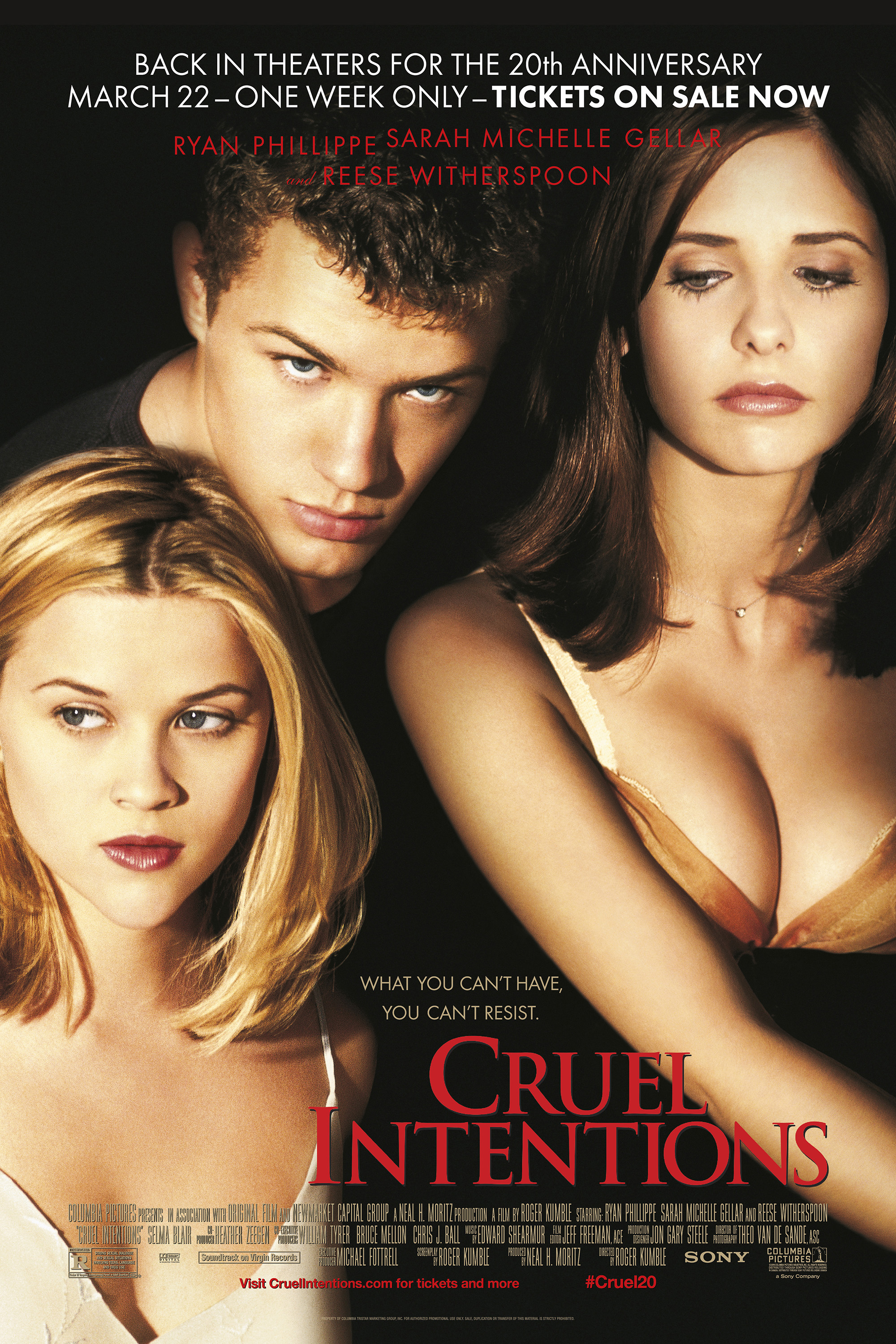 Cruel Intentions 20th Anniversary Poster