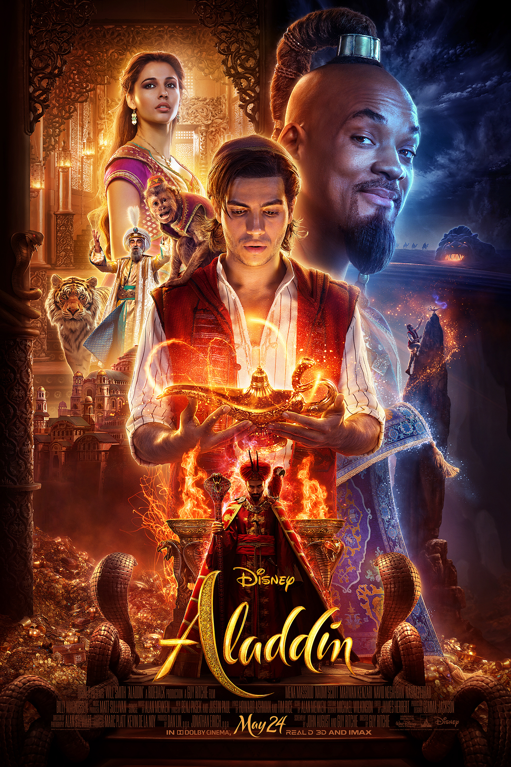 Poster of Aladdin in RealD 3D