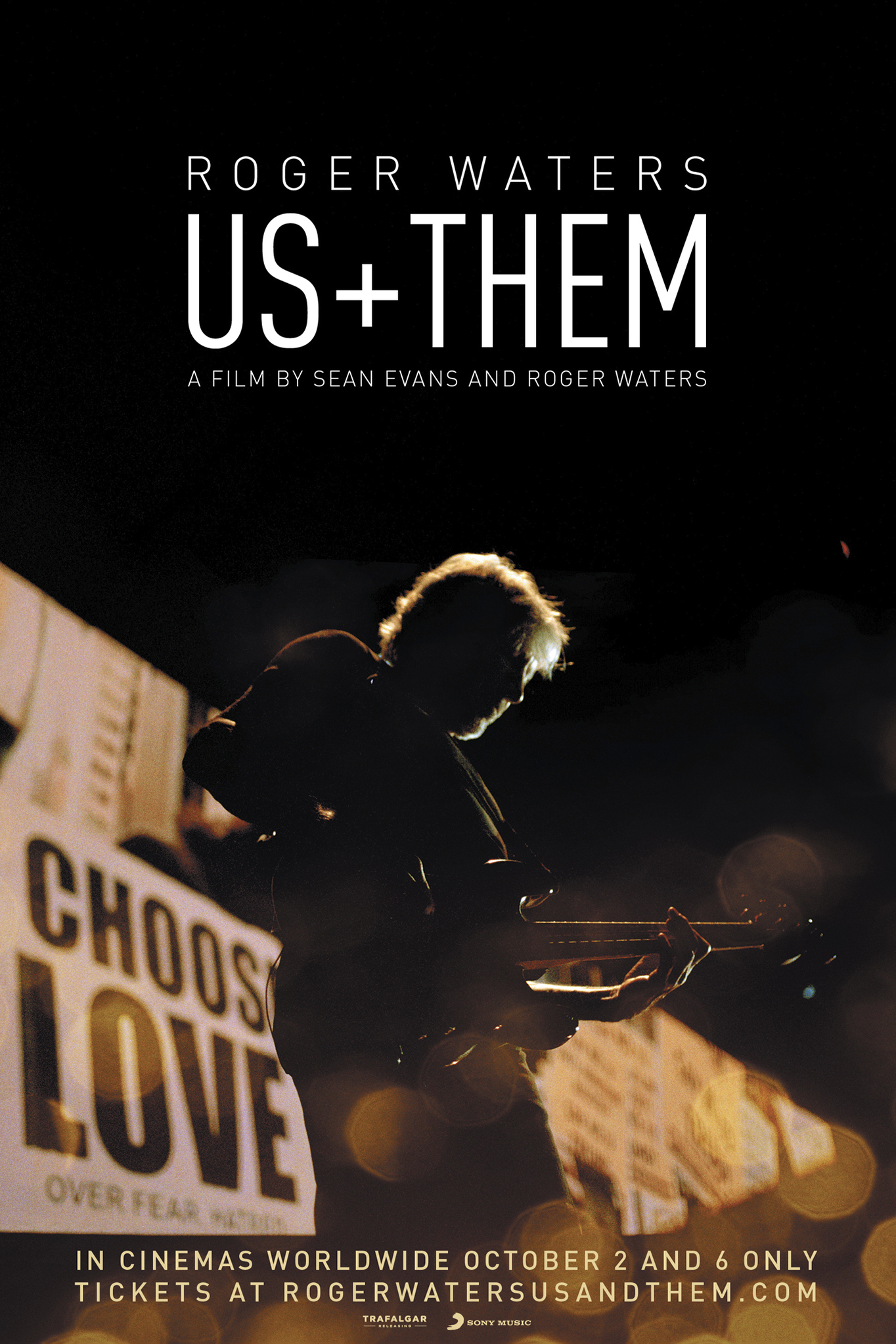Roger Waters  Us + Them Poster