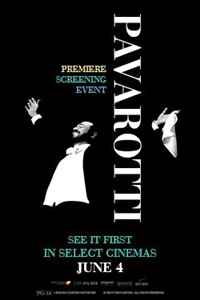 Poster for Pavarotti Premiere Screening Event