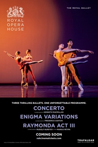 The Royal Opera House: Concerto / Enigma Variations / Raymonda Act III Poster