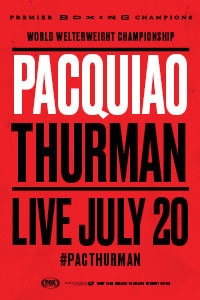 Poster of Manny Pacquiao vs. Keith Thurman