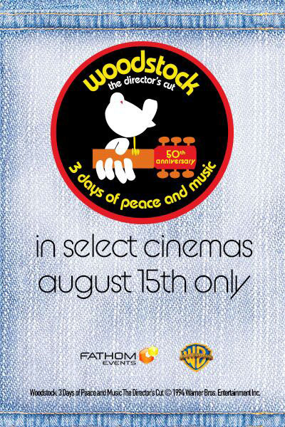 Woodstock: 50th Anniversary Director's Cut Poster