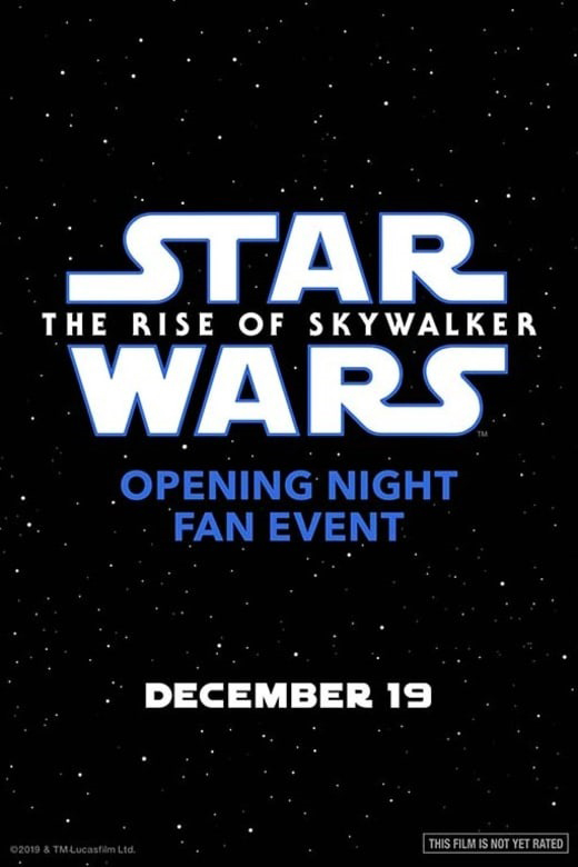 Opening Night FanEvent Star Wars:Rise of Skywalker Poster