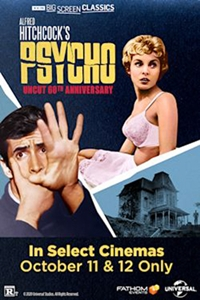 Poster of Psycho (1960) 60th Anniversary presented by TCM