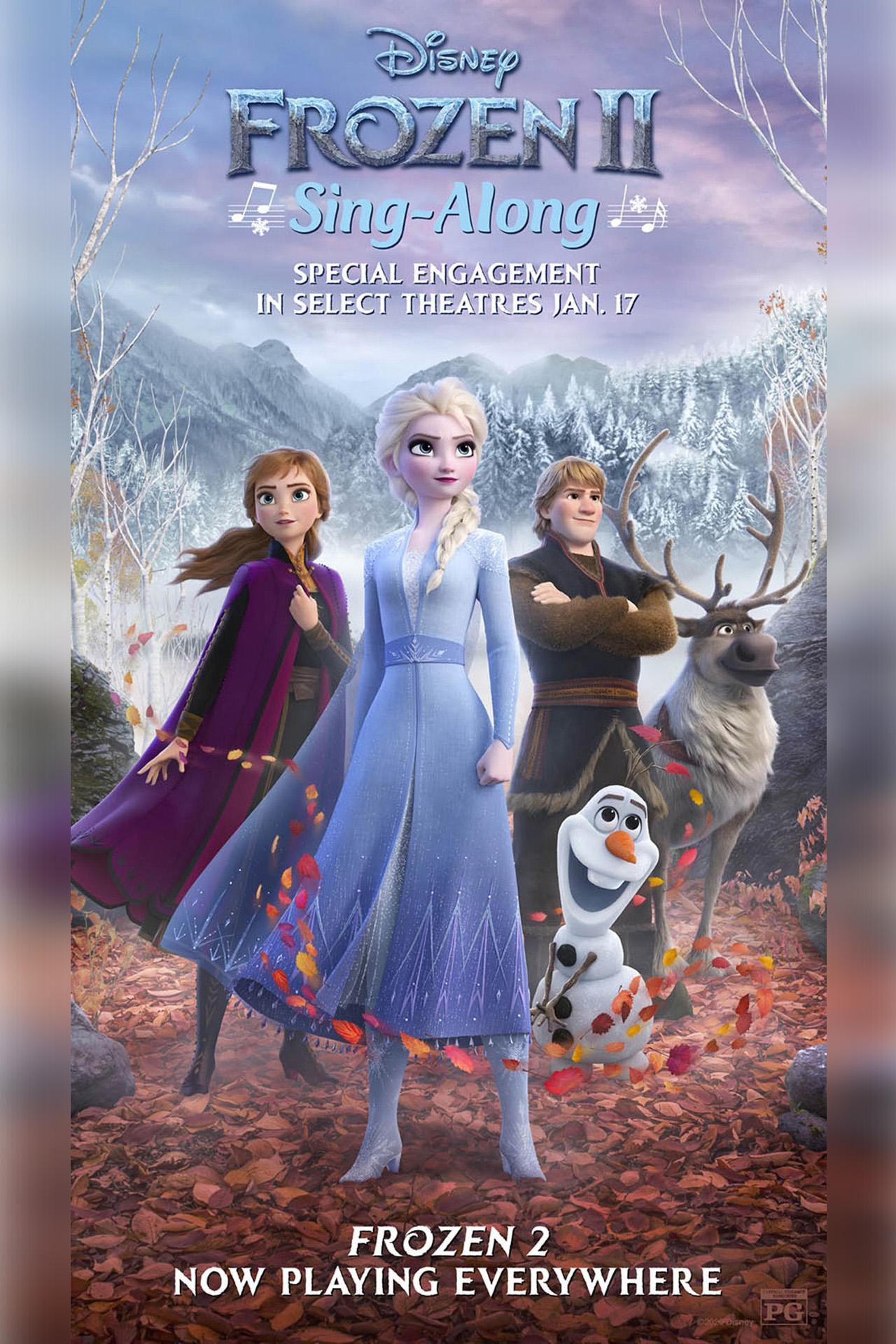 Frozen II Sing-Along Poster