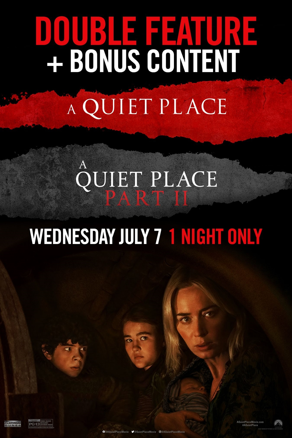 A Quiet Place Double Feature Poster