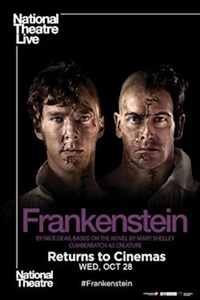 Poster of National Theatre Live: Frankenstein (Cumberbatch as Creature)