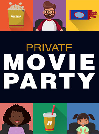 Private Movie Party Poster