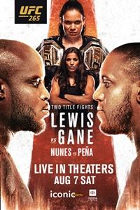 Poster of UFC 265: Lewis vs. Gane