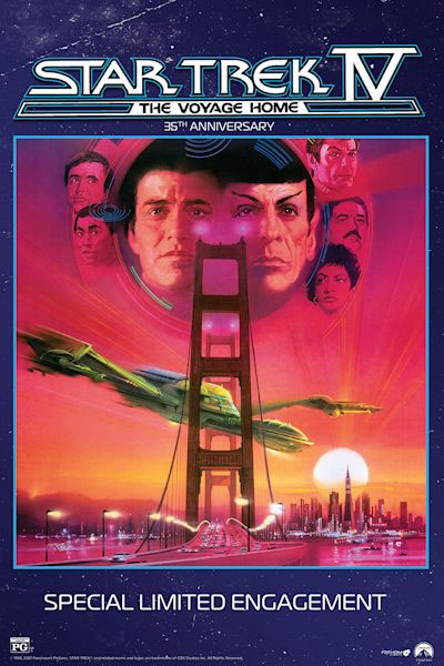 Poster of Star Trek IV: The Voyage Home 35th Anniversary