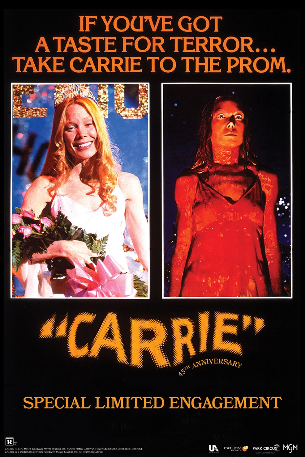 Poster of Carrie 45th Anniversary
