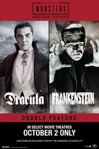 Poster of Dracula (1931) & Frankenstein (1931) ...